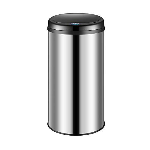 Deuba Sensor Abfalleimer 30L Automatischer Mülleimer LED Anzeige Müllbehälter berührungslos Bewegungssensor wasserdicht