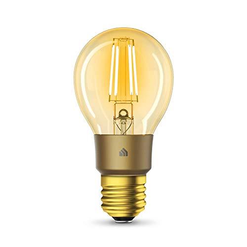 TP-Link KL60 Kasa Smart WLAN Filament Glühbirne, Vintage Bernstein Gelb, Lampe mit E27 Sockel, dimmbar, 5W, kompatibel mit Amazon Alexa, Google Home, IFTTT, Schnellinstallation Kasa-App