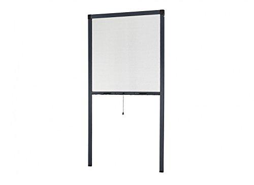 empasa Insektenschutz Fliegengitter Rollo Insektenschutzrollo Fenster SMART Selbstbausatz weiß, braun oder anthrazit