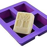 Leisial™ Jelly Form Seifengießen Gießformen Seife Seifenformen Silikon Liebesbaum Silikonform für Seife Zufällige Farbe(4 Gitter)