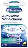 Dr. Beckmann Aktivkohle Wc-Schaum | Selbstaktivierender Schaum | 3 x 100g