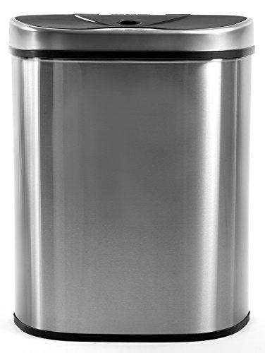 Homra Qubix Edelstahl - 70L Mülltrennsysteme mit 2 Fächer - Mülleimer mit Sensor - Automatischer Mülleimer Trennsystem 2Fach -2 x 35 Liter