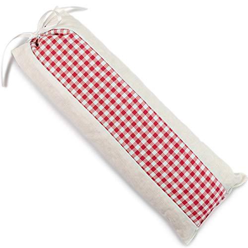 Pfefferminz-Dinkelspelz-Kissen ca. 35x13cm | rot-weiß | Pfefferminz Duftkissen Duftbeutel Duftsäckchen