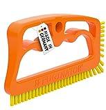 FUGINATOR® Fugenbürste orange/gelb– Bürste zur Fugenreinigung in Bad, Küche und Haushalt mit EU-Patent
