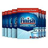 Finish Spezial-Salz – Spülmaschinensalz zum Schutz vor Kalkablagerungen und Wasserflecken – Multipack mit 8 x 1,2 kg