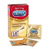 Durex Natural Feeling Kondome – Latexfreie Kondome für ein natürliches Haut an Haut Gefühl – 16er Pack (1 x 16 Stück)