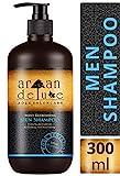 Argan Deluxe Herren Shampoo in Friseur-Qualität TESTURTEIL SEHR GUT - 300 ml - Starkes Pflegeshampoo mit Minze für Männer