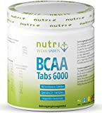 BCAA Vegan Tabletten hochdosiert 2:1:1 - MHD 31.5.21 - 360 Mega Tabs - 1000 mg reine BCAAs pro Tablette - Amino acids - essentielle Aminosäuren ohne Zusatzstoffe