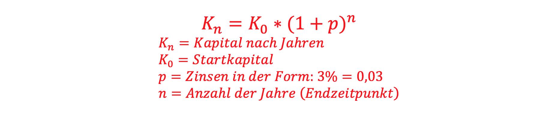 Buchstaben Kapital und Zins