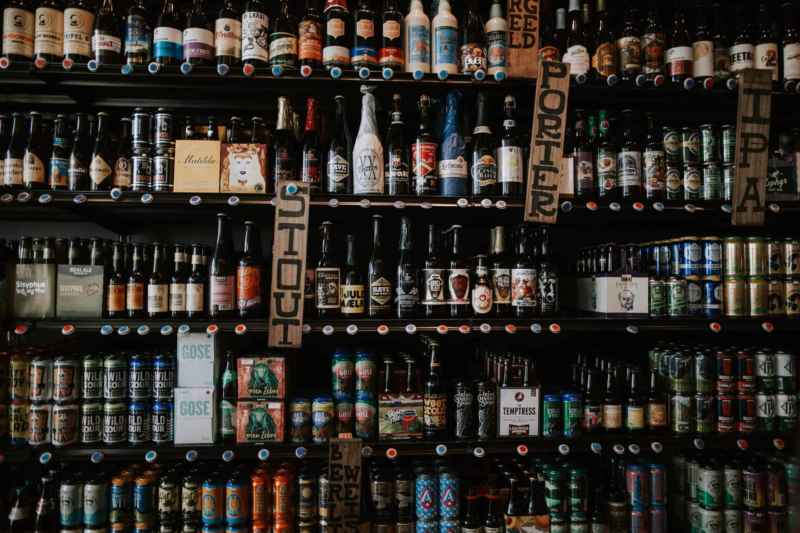 Viele verschiedene Biersorten