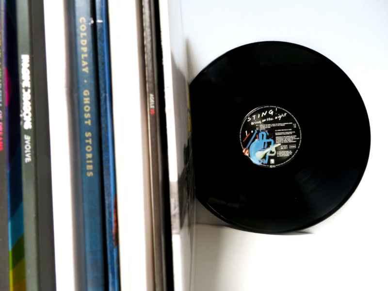 Schallplatte im Regal